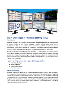 Physician Staffing in ICU Challenges